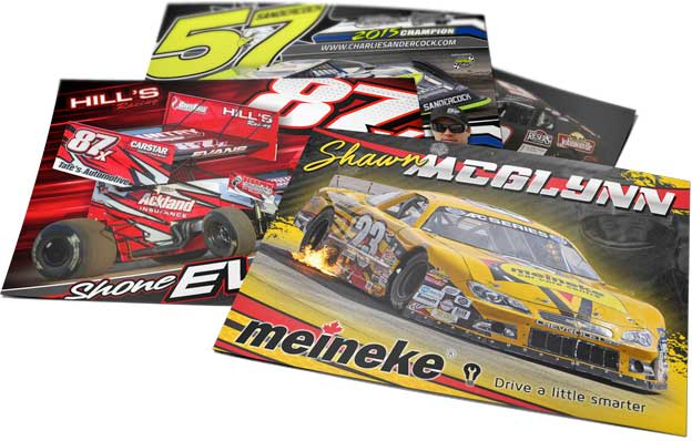 Racecar driver hero cards