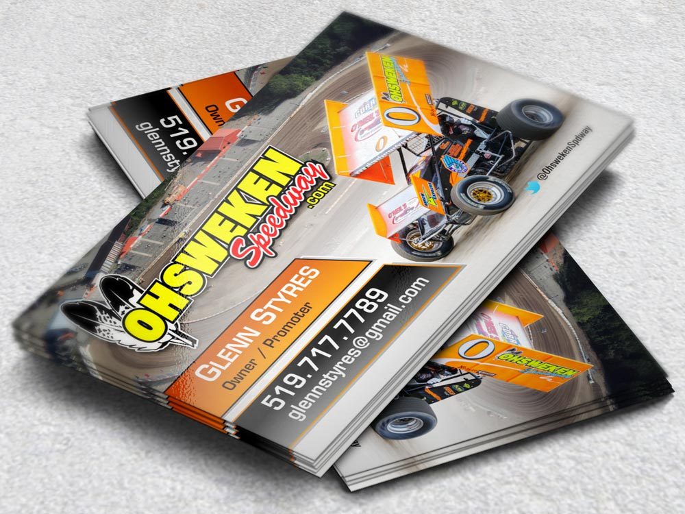 Racing Business Cards for Teams & Drivers   Image Factor Media