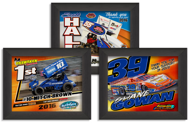 Framed Racing Photos