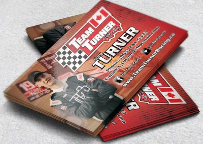 Racing Business Cards Turner